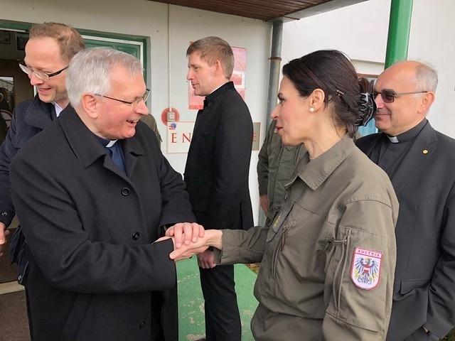 Militärbischof Freistetter besucht österreichische EUFOR-Truppen